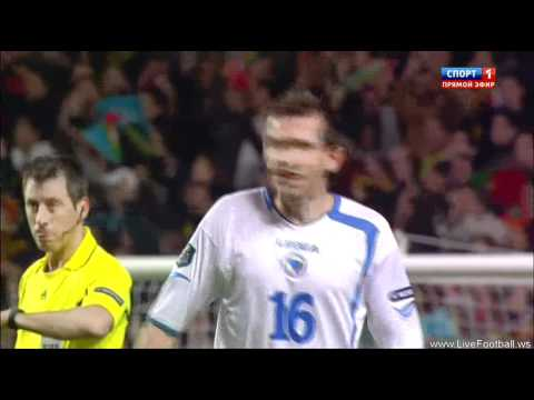 Cristiano Ronaldo Second Goal vs Bosnia Herzegovina (15 November 2011)Euro 2012 Playoffs
