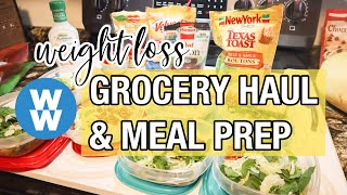 MY WW MEAL PREP & GROCERY HAUL || Shopping for the Pandemic || Salad, Salsa Chicken, & Waffles