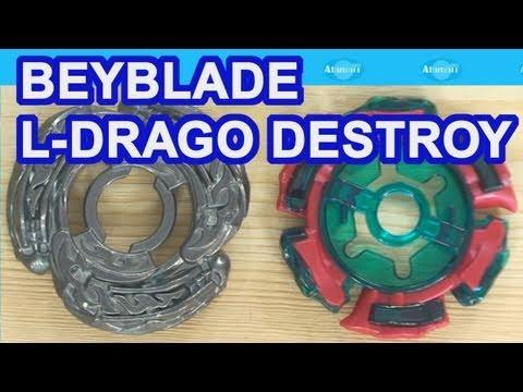 Beyblade Metal Fight Beyblade 4D L-Drago Destroy F:S Review