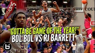 """THIS GOTTA BE GAME OF THE YEAR!"" Bol Bol Vs RJ Barrett Ballislife Highlights"