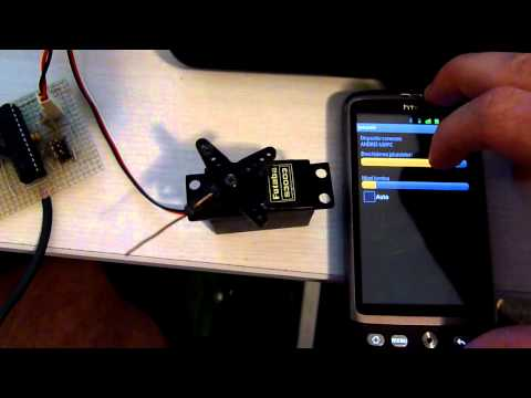 Bluetooth controlled servo (Android + atmega)
