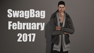 SwagBag (for men) - February 2017 - Unboxing Video - Second Life Subscription Box