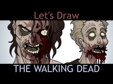 Walking Dead Drawings Let's Draw The Walking Dead