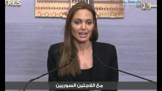 Angelina Jolie Visiting Syrian Refugees camps In Lebanon