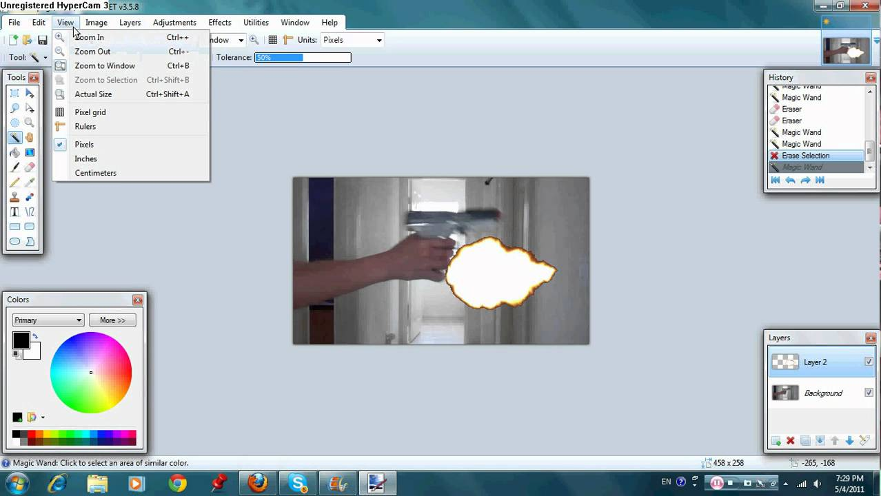 Tutorial: How to make a Muzzle Flash in Windows Live Movie Maker ...