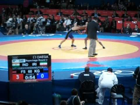 India Kicks Iran's Arse At The London 2012 (Olympics) Freestyle Wrestling