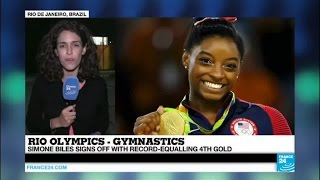 Rio 2016: Simone Biles signs off with record-equalling 4th gold medal