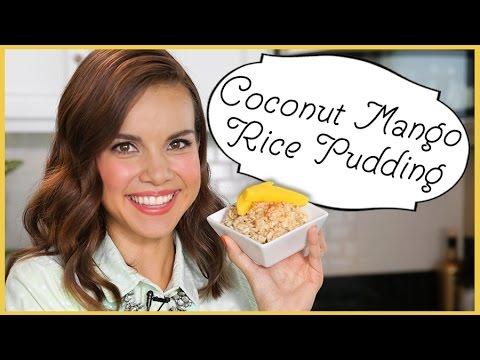 Ingrid Dishes | Coconut Mango Rice Pudding | Recipes from Missglamorazzi