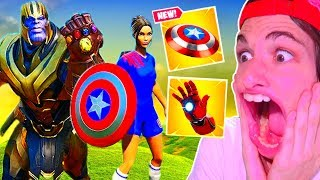 MEJORES MOMENTOS y FAILS con *THANOS x AVENGERS* FORTNITE Battle Royale *EPIC FAILS*