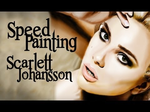 Speedpainting Scarlett Johansson by davide ruvolo speedpainter!!