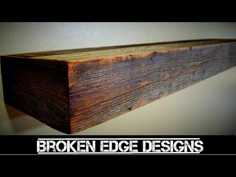 Reclaimed wood - floating shelf