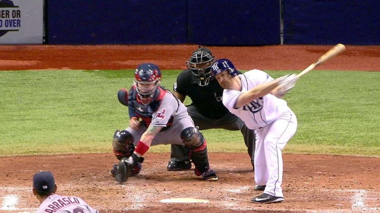 CLE@TB: Carrasco keeps no hitter through 7 2/3