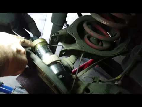 Bmw e36 e46 rear outer control arm bushings diy removal and install