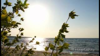 Sunset scenery screen nature video for meditation and relaxation