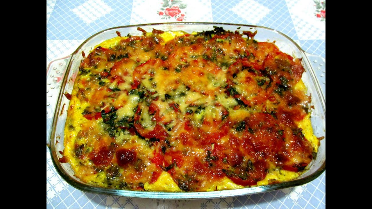 запеканка кабачковая с помидорами и сыром менее, самым