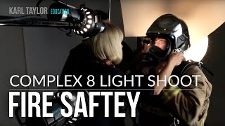 Complex 8 X light studio shoot for MSA Fire Safety... plus GraphiStudio & Manfrotto tours.