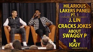 Hilarious Lakers Panel (Pt. 1): Jeremy Lin Cracking Jokes About Nick Young And Iggy