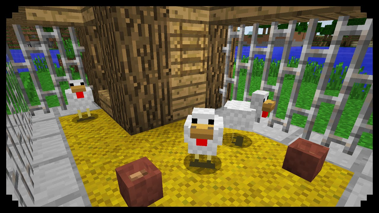 Minecraft How To Make A Chicken Coop Youtube