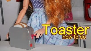 How to make a doll toaster - miniature crafts DIY