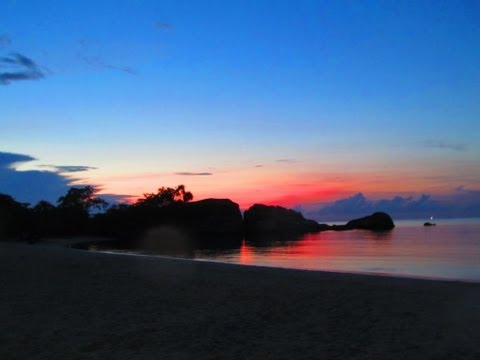 Sunset di Tanjung Tinggi - Belitung Video