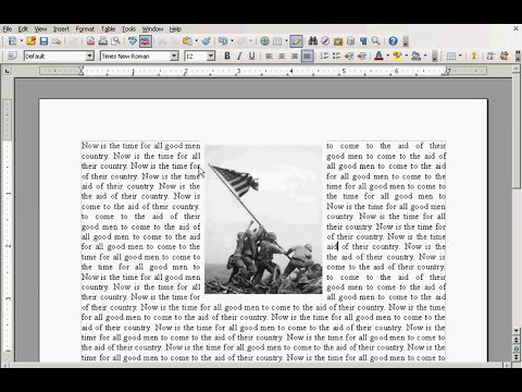 OpenOffice Tutorial: How To Insert And Adjust An Image