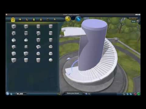 Spore: How to create Spiral Stairs