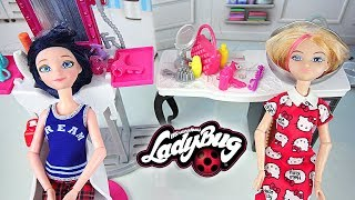 Miraculous Marinette & Chloe Salon de Coiffure Barbie Beauty Salon