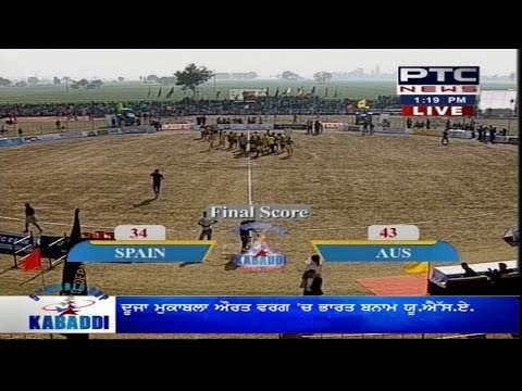 Australia vs Spain | Men's | Day 2 | 5th World Cup Kabaddi Punjab 2014