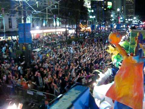 Krewe of Endymion on Canal Street - View from float 2009