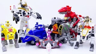 Power Rangers & Marvel Avengers Toys Pretend Play   White Tigerzord Get Stolen by Witch