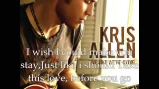 Watch Kris Allen Is It Over video
