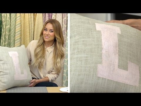 Lauren Conrad: Stenciled Accent Pillows