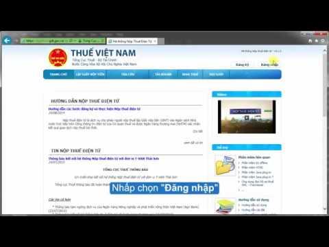 Hướng dẫn đăng nhập hệ thống dịch vụ nộp thuế điện tử