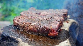 PRIMITIVE ROCK COOKING - Part 2   Thịt Bò Nướng - Tập 2