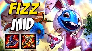 Acertou o R é Free Kill - FIZZ AP MID GAMEPLAY - League of Legends - Eternolol