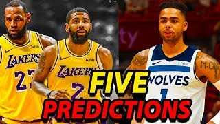 Five Bold Predictions For 2019 NBA Free Agency | Kyrie Signs With The Lakers?
