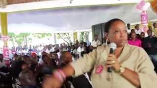 VIDEO: Haiti Elections - Jovenel Moise di: ZAM Nou Nan men mou, se pou n al SANKSYONE VAGABON...