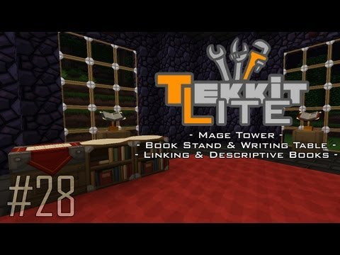 Tekkit Lite - Part 28: Linking & Descriptive Books, Book Stand & Writing Desk