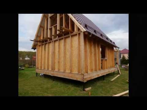 Каркасный дачный домик 6 на 6 своими руками 54