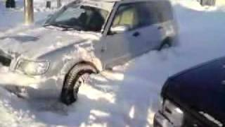 Subaru Forester MT in Snow of Russia Magadan.MP4
