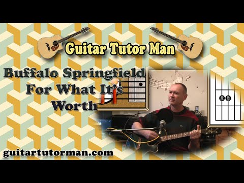 For What It's Worth - Buffalo Springfield - Acoustic Guitar Lesson (easy)