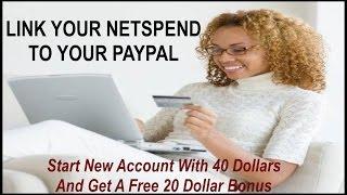 NETSPEND PAYPAL plus NetSpend Debit Card Free 20 Referral Bonuses