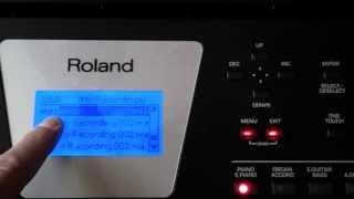 Roland BK-3 - odtwarzanie plików audio (jakiinstrument.pl)