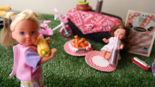 Baby Doll gets brand new Bike, Scooter & Car Toys! bike and bed play house set