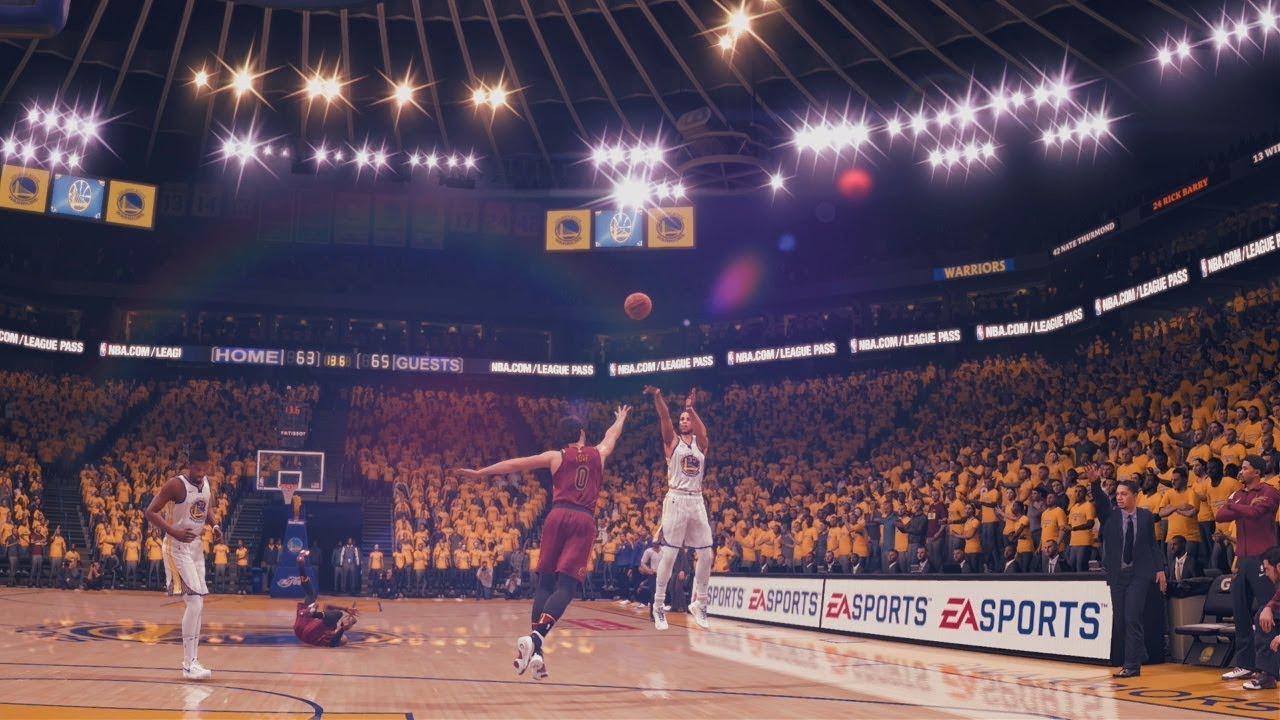 NBA Live 18: Cavs vs Warriors - LeBron Vs Steph Duel in Final Minute - CRAZY