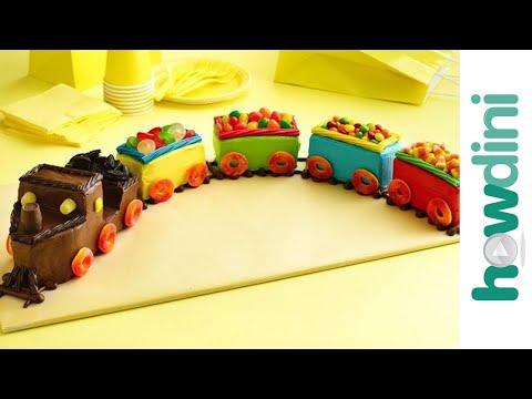 Train birthday cake decorating ideas -  Vonat torta készítése születésnapra