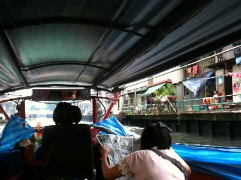Public Boat in the Canals of Bangkok