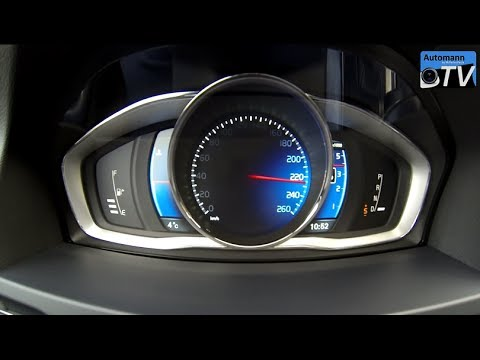 Volvo V60 R-Design D5 Polestar (230hp) - 0-230 km/h acceleration (1080p) - YouTube