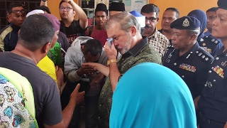 Johor Sultan visits families of teens killed in horrific accident