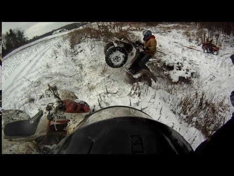 4 Quads In The Snow GoPro HD